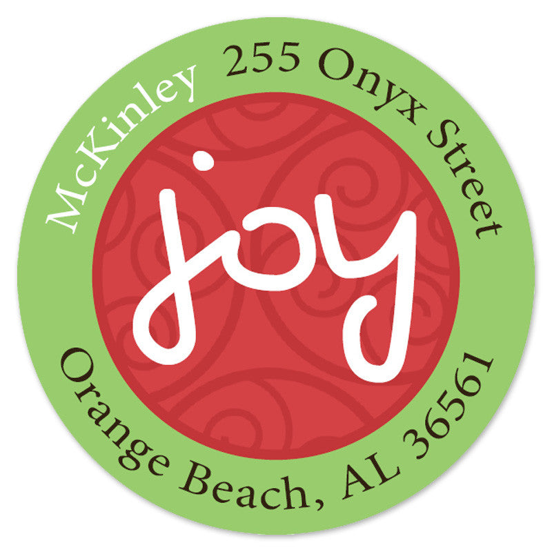 Green joy Labels (set of 20)