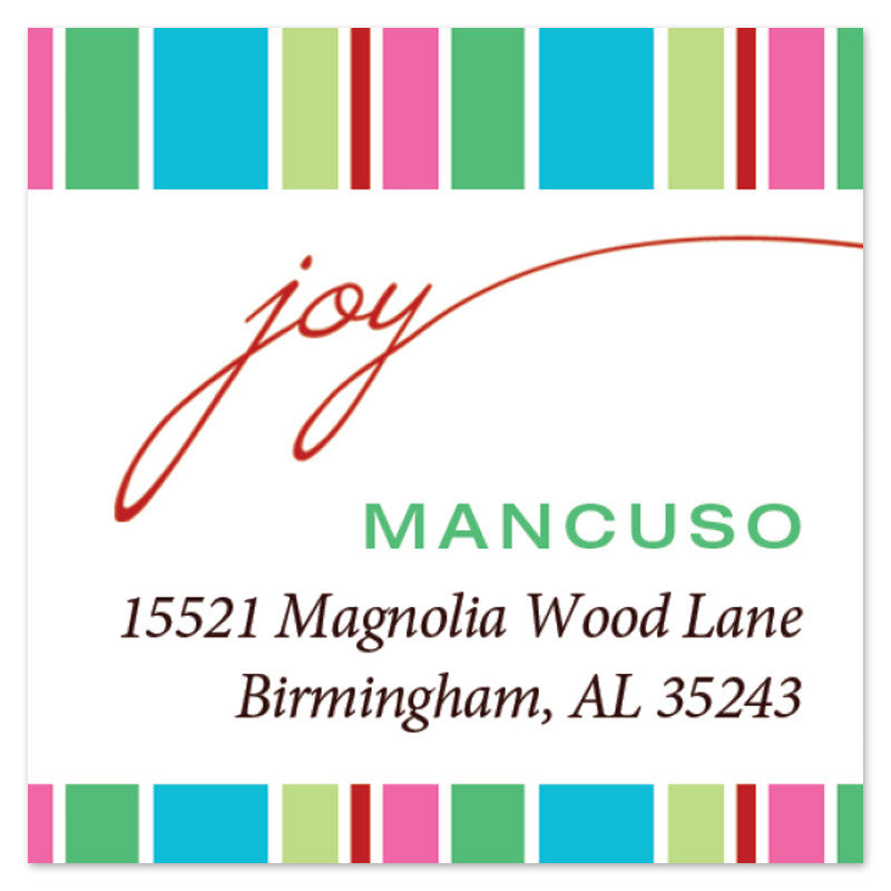 Joy Stripe Label (Set of 20)