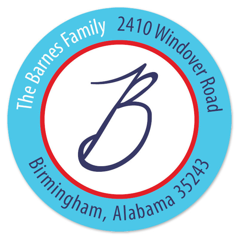Circle Address Label (Set of 20)