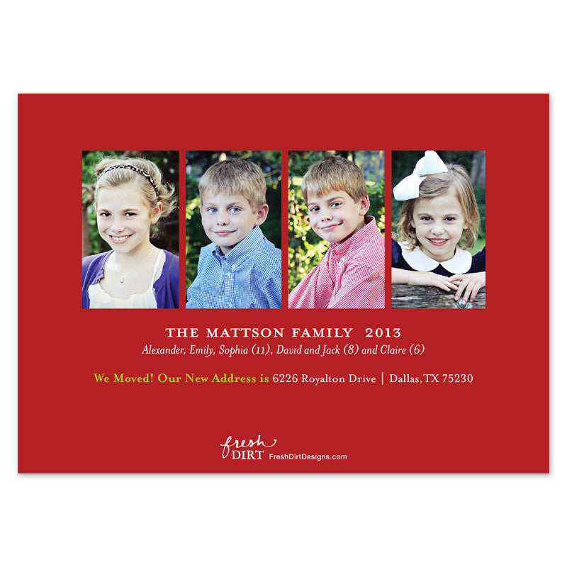 change of address christmas card