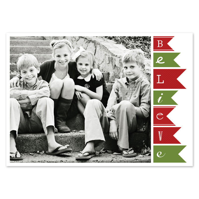 black and white photo holiday card