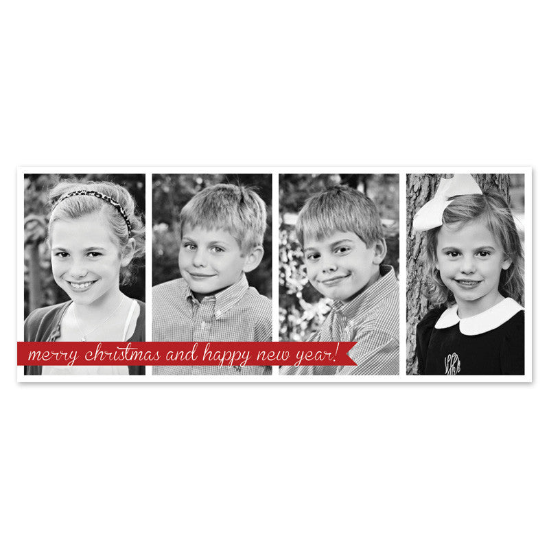 multi photo Christmas card