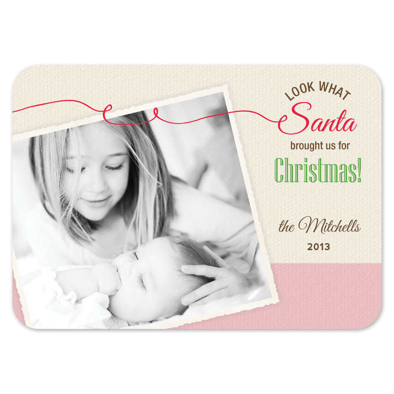 Christmas card birth announcement combo