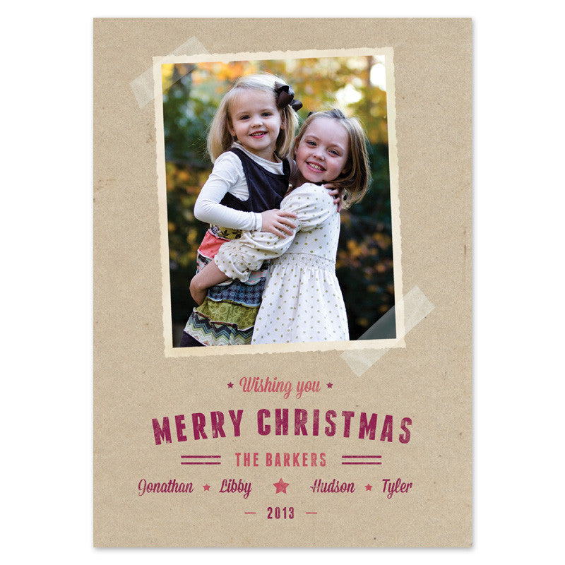 kraft paper christmas card
