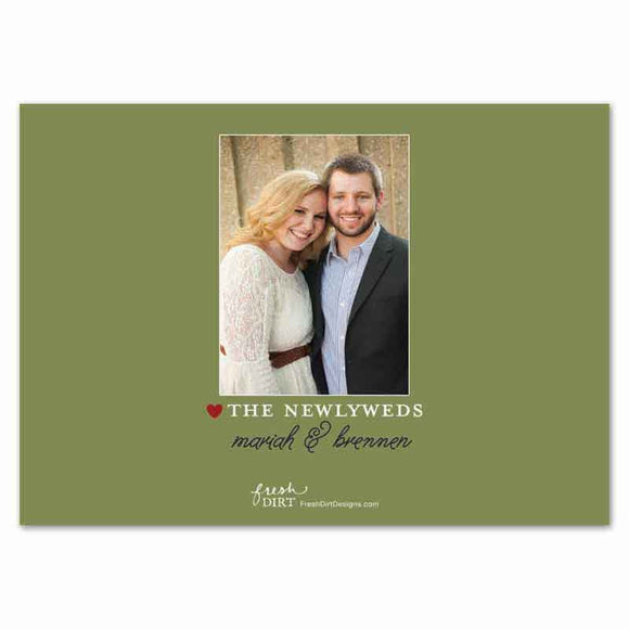 rustic wedding christmas card