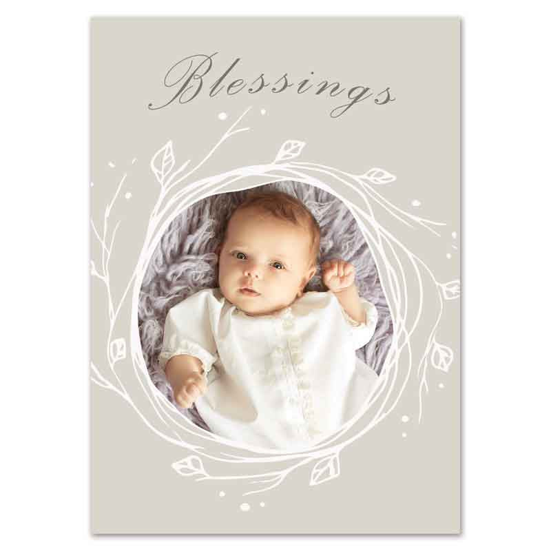 Blessings christmas birth announcement