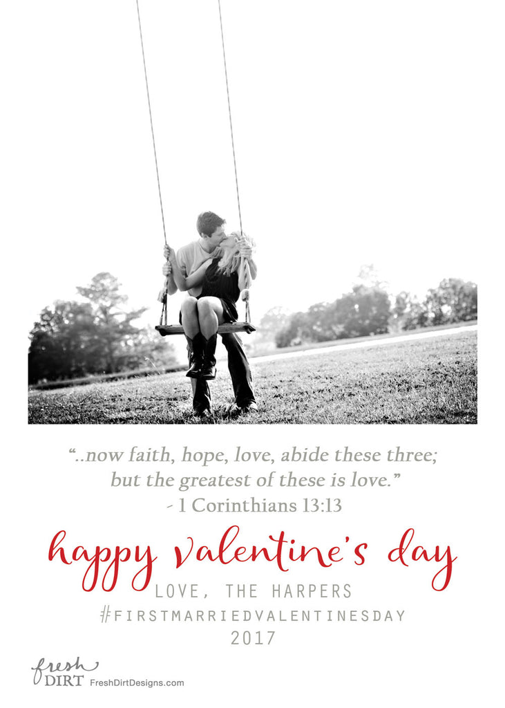 First Married Valentine Card