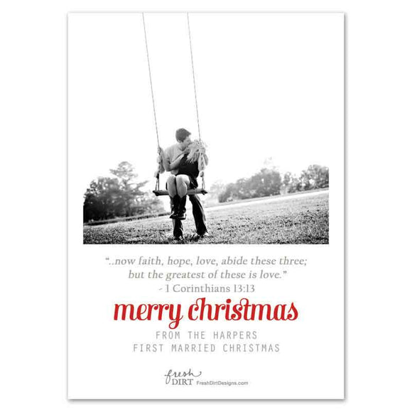 Newlywed Christian Christmas Card