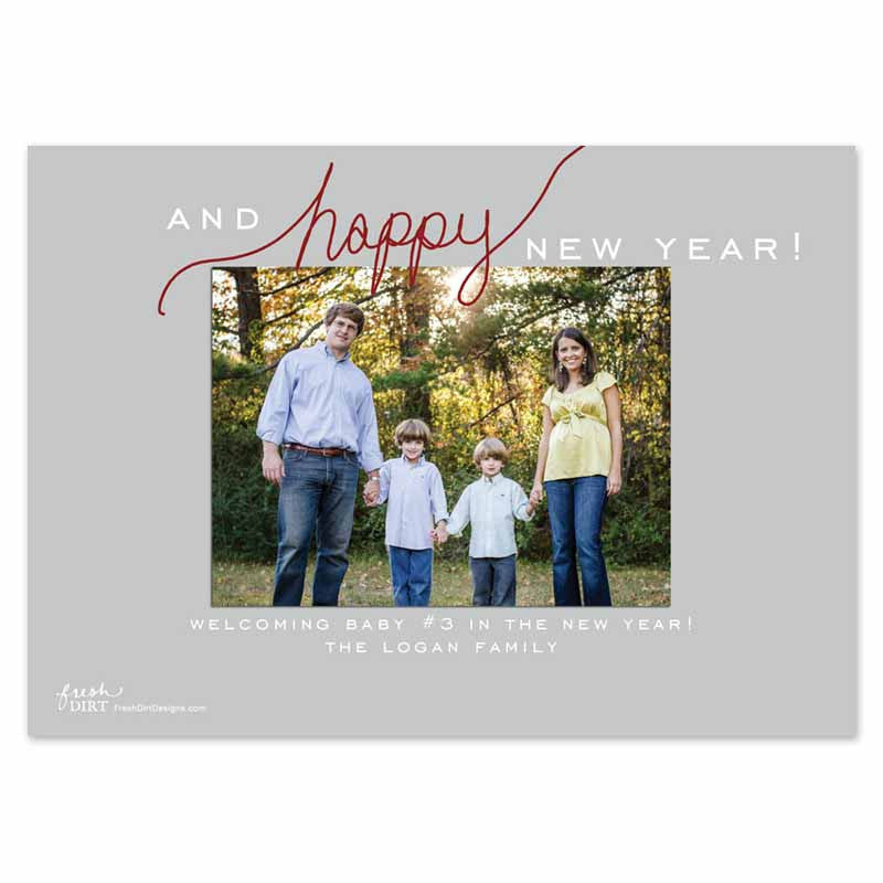 pregnancy announcement christmas card back