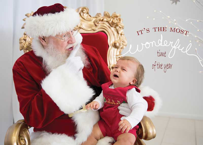 Unique Baby's First Christmas Card front