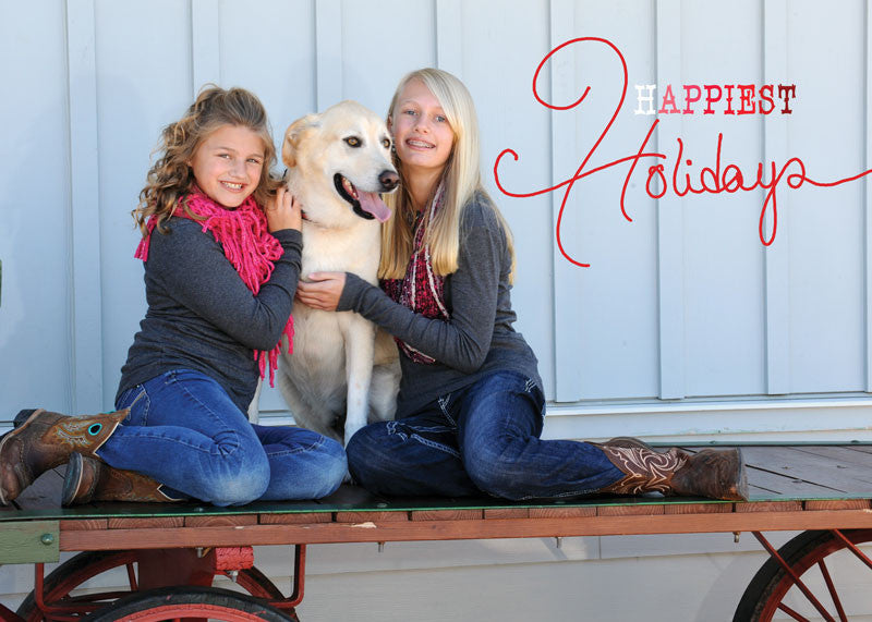 Happiest Ombre Holiday Card front