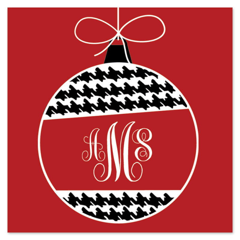 Ornament Monogram Gift Tag (Set of 18)