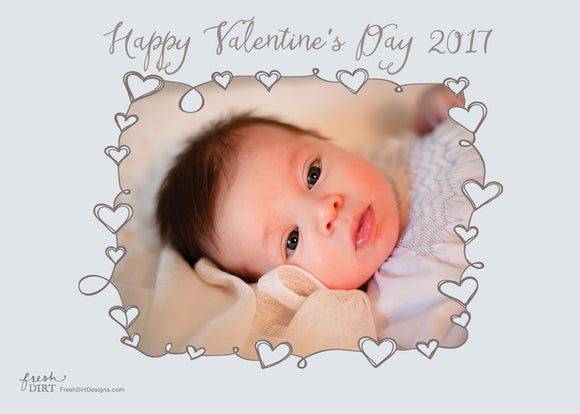 Valentine Baby Announcement Cards