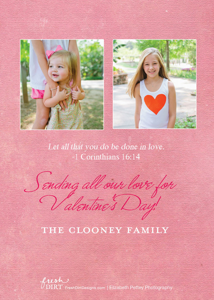 Pink Valentine Photo Card