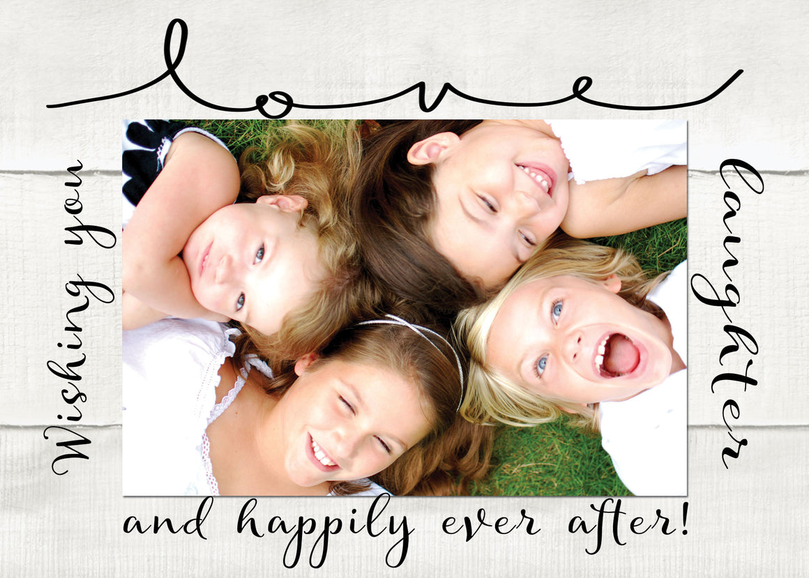 happily ever after valentine photo card