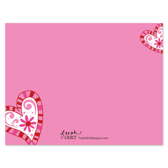 valentine card to attach treat