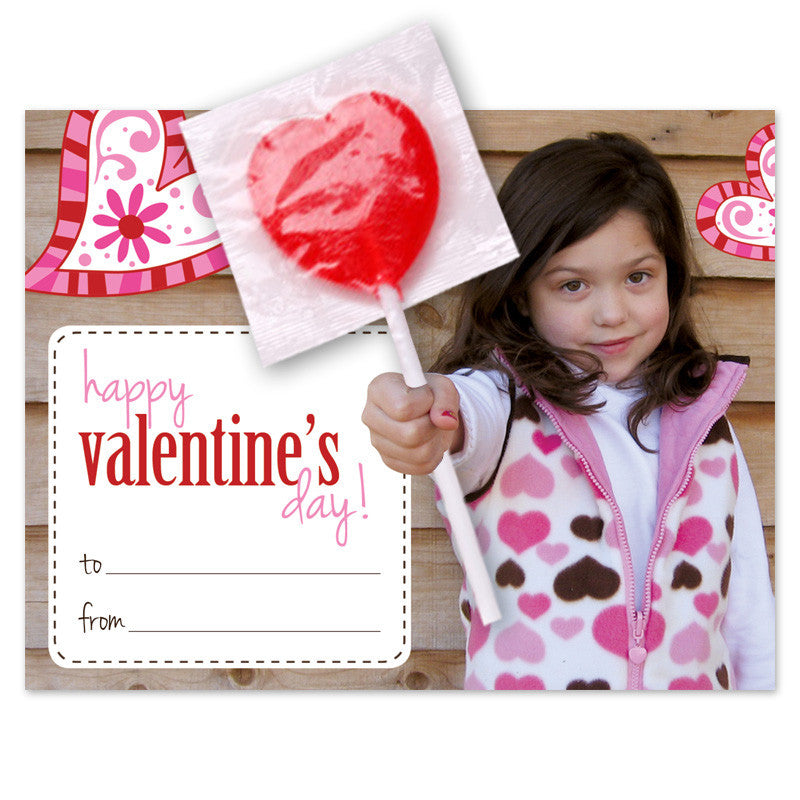 valentine card with sucker