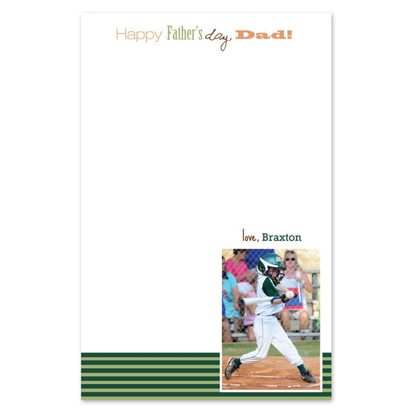 Sports Photo Notepad