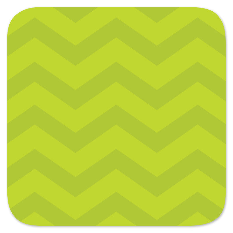 lime green chevron backer