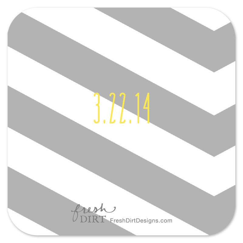 wedding logo coaster back