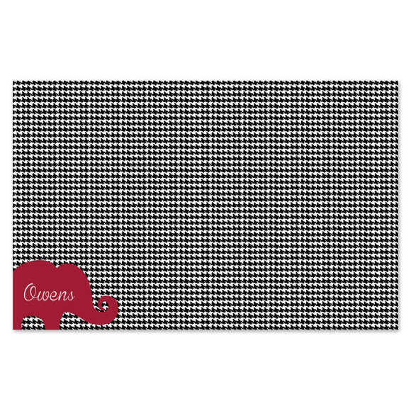 Houndstooth paper placemats