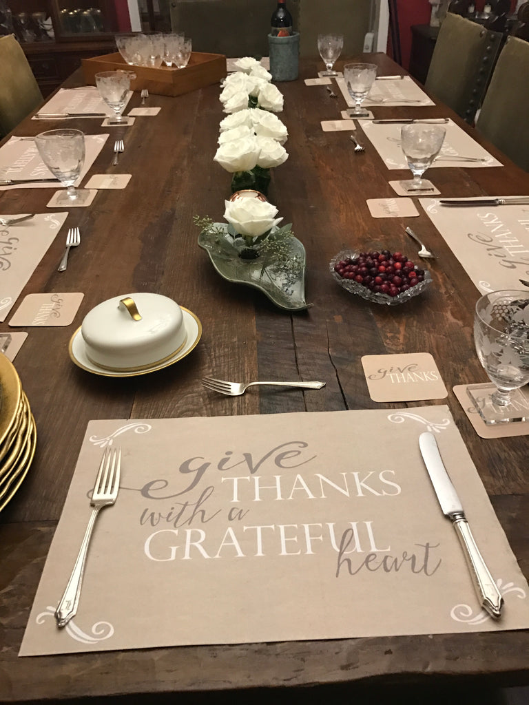 Thanksgiving paper placemats (Set of 24)