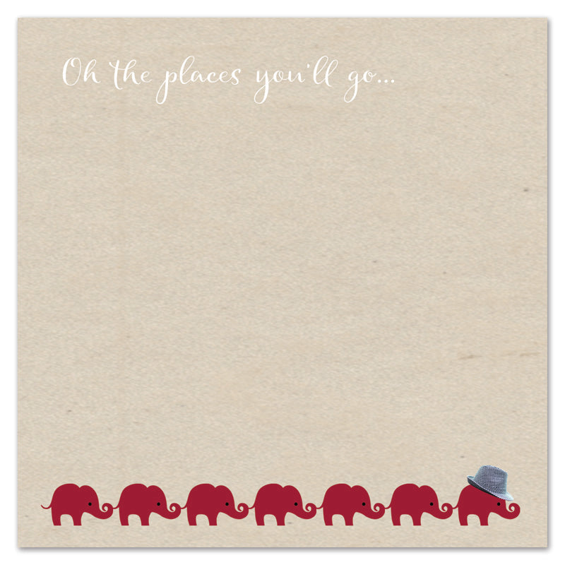 Oh the places you'll go... little elephant