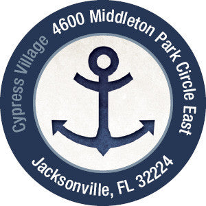 Nautical Anchor Label