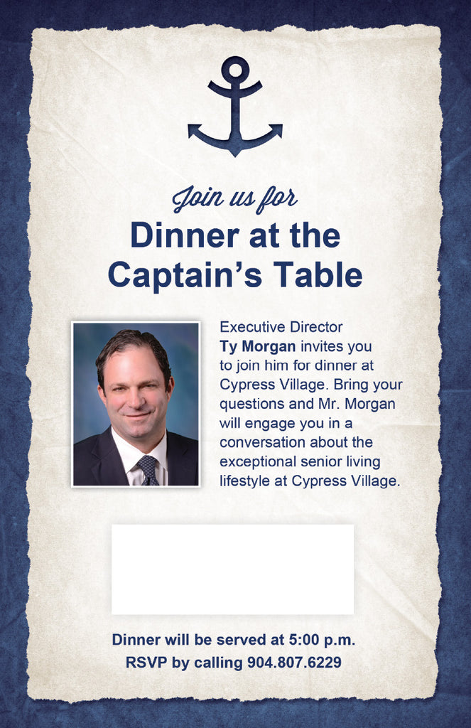 Nautical Dinner Invitation