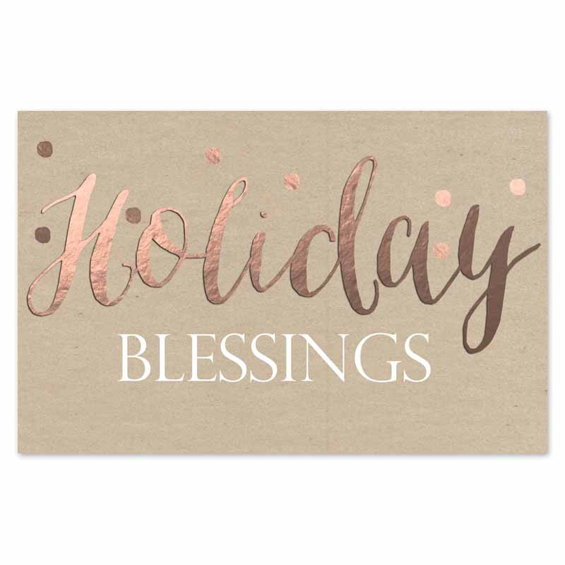 Holiday Blessings paper placemats
