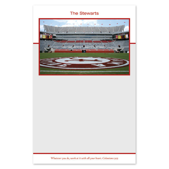 Personalized Alabama Notepad