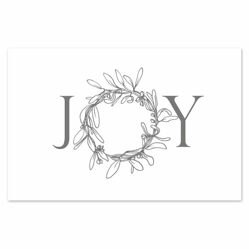 JOY wreath placemats