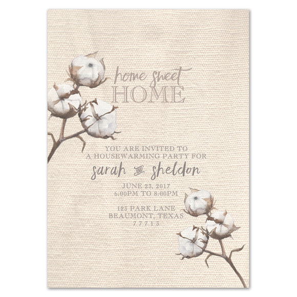 Linen and Cotton Housewarming Invitation