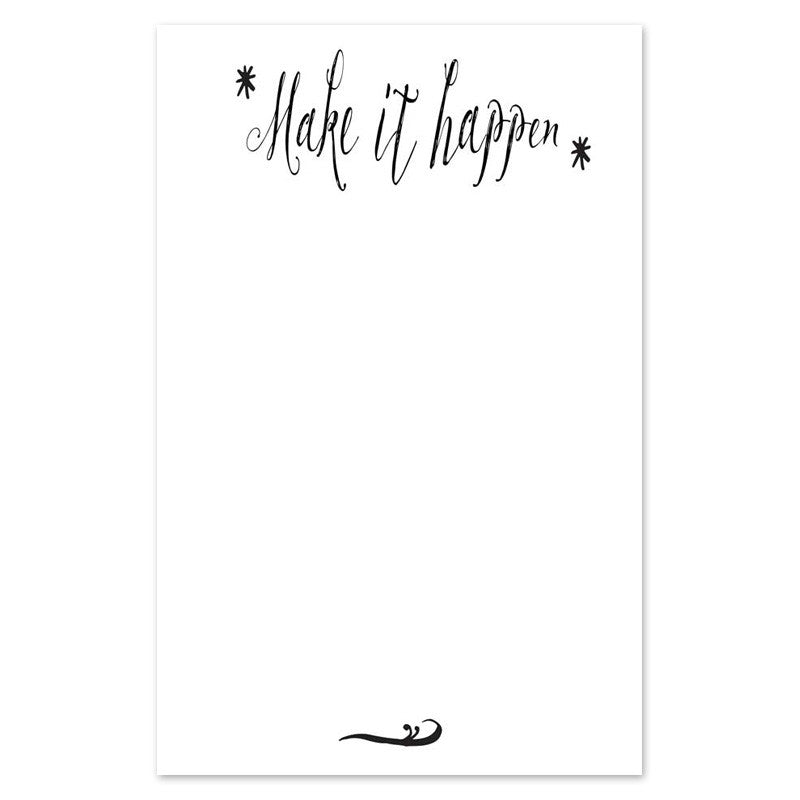 make it happen notepad