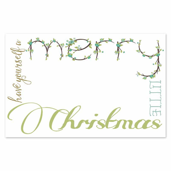 merry floral christmas placemats