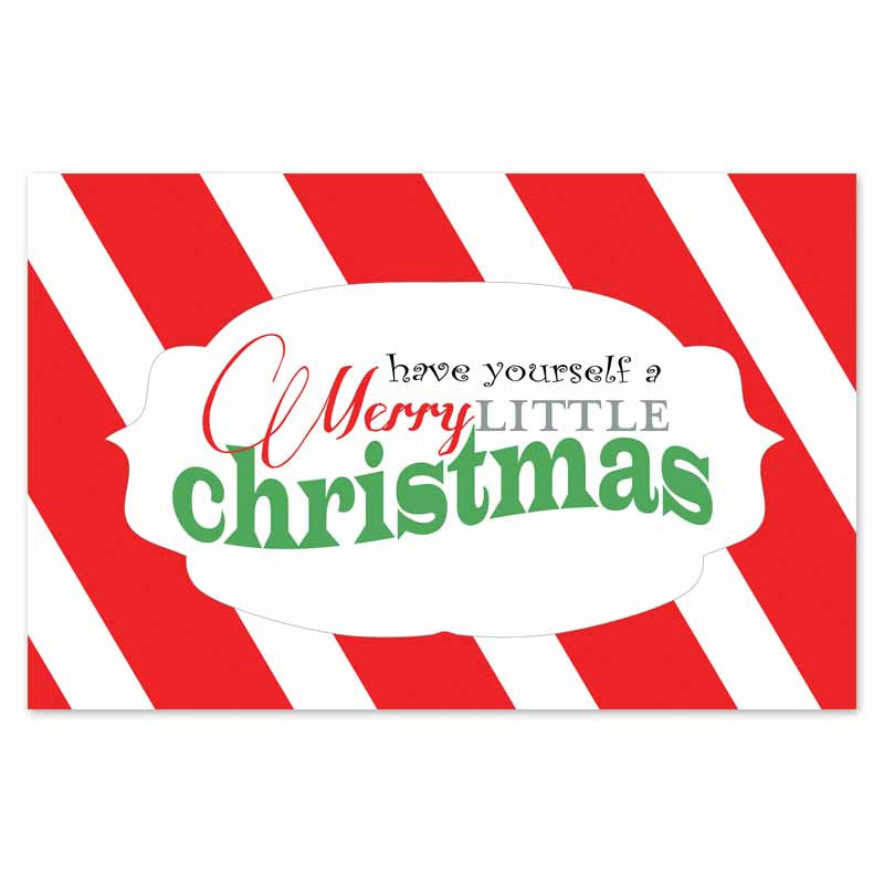 Merry Little Christmas Placemats (Set of 24)