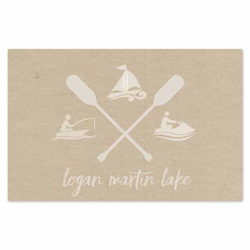 nautical icons for lake activities placemats