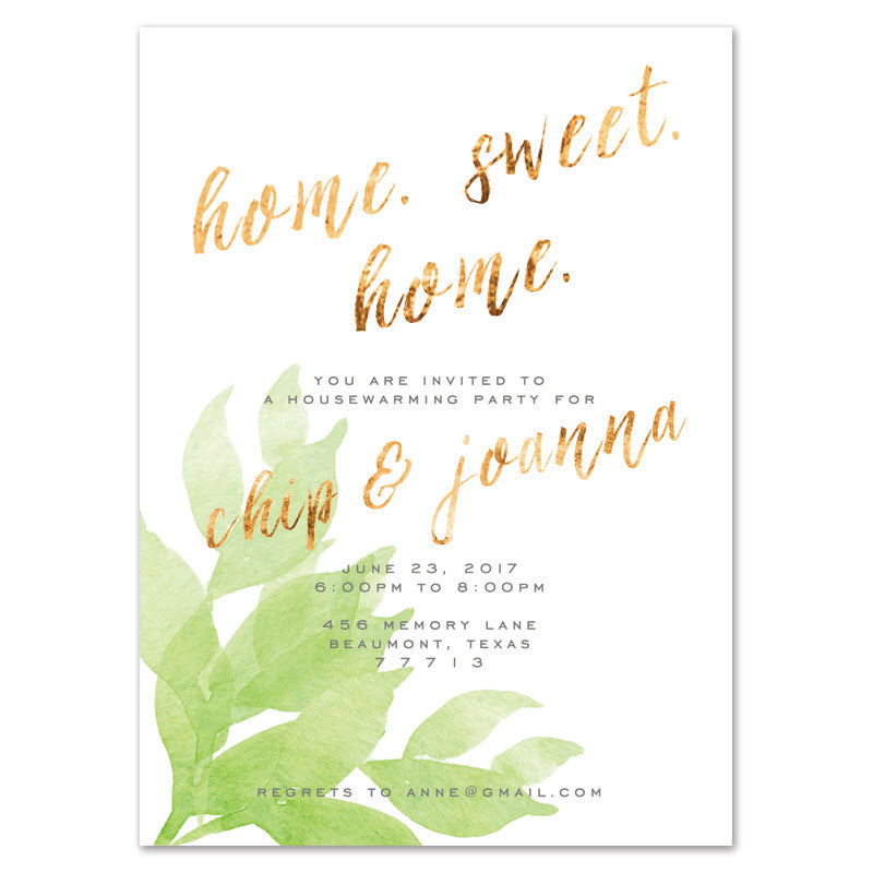 Home Sweet Home Housewarming Invitation  Freshdirtdesigns