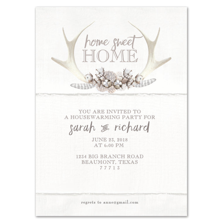 Rustic Woodland Housewarming Invitation