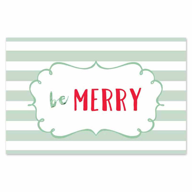 Be Merry paper Palcemats
