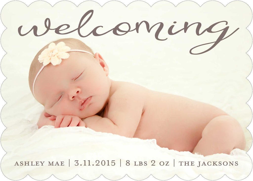 welcoming baby announcements