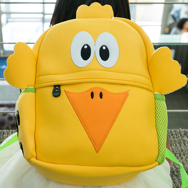 Chicklet Toddler Animal Backpack, Yellow Chicklet, washable
