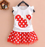 Summer Toddler Girls Dress Set Cartoon Character