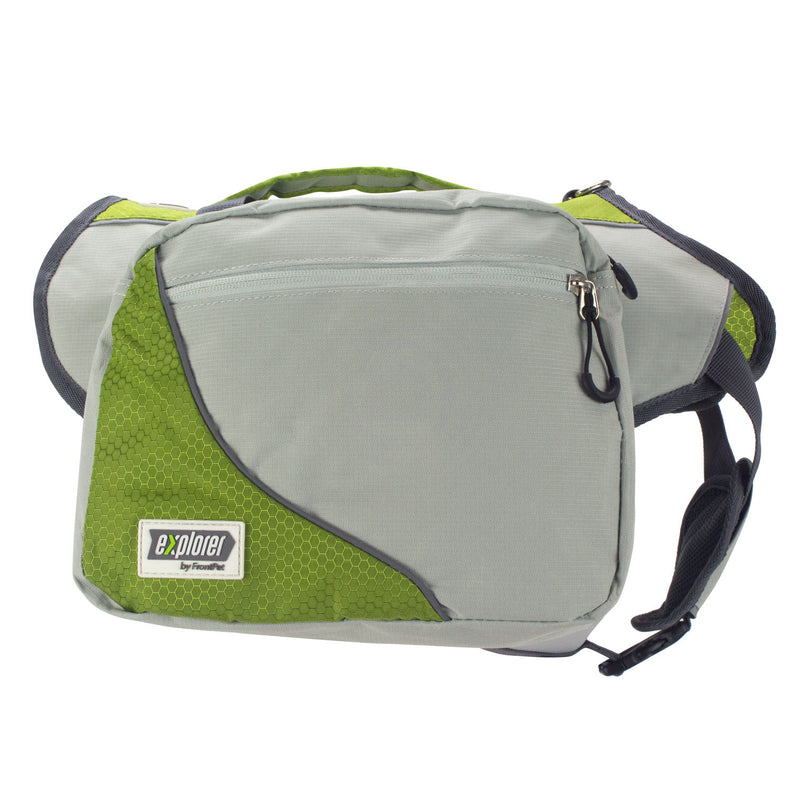 Zoomed side view showing saddle bag exterior