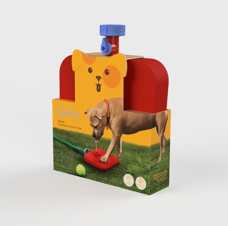 Dog water fountain in package