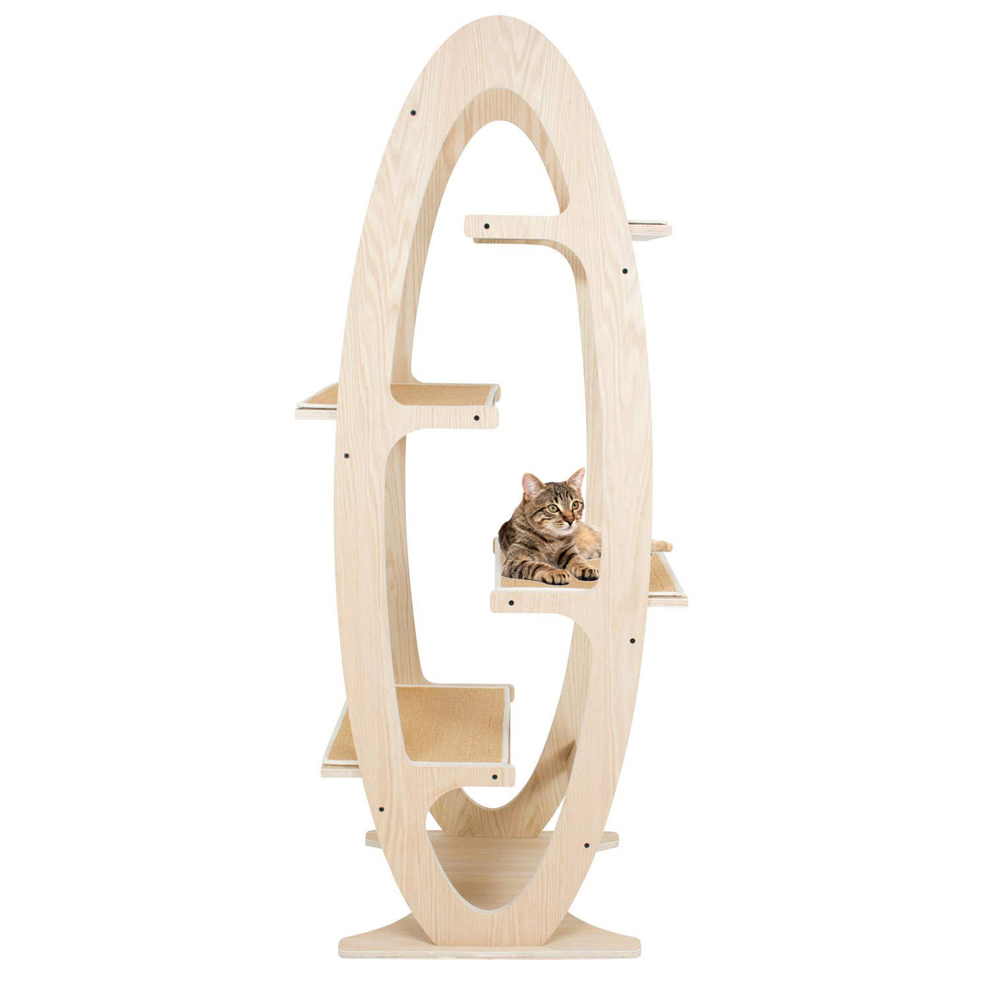 Cat Tree Modern Wood Luxury Apex Cat Tower Frontpet Com