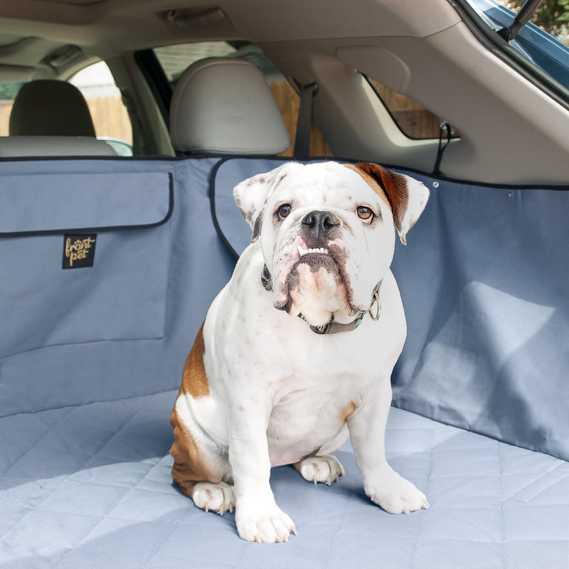 Cargo liner with dog (grey)
