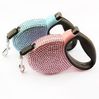 ARMIPET Rhinestone Retractable Leashes - Dog E Paws