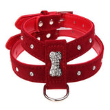 Rhinestone Bone Puppy Collar Harness - Dog E Paws