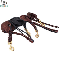 MEGOO Genuine Leather Leash - Dog E Paws